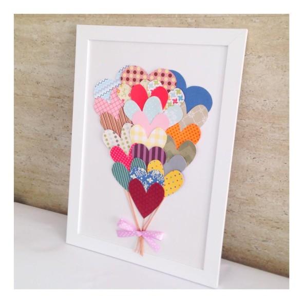 Quadro de coração para o Dia dos Namorados 012