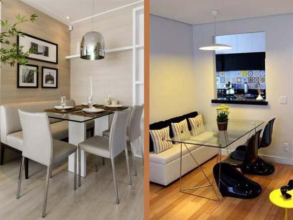 Bancos na sala de jantar 012