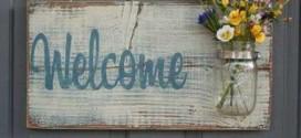 DIY – Como fazer placa de boas vindas