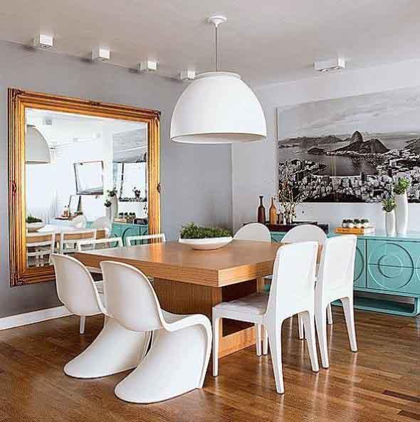 Decore sua sala de jantar com espelhos 004