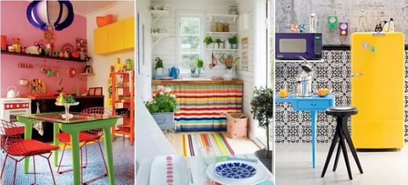 Colorido na decoração da cozinha 001