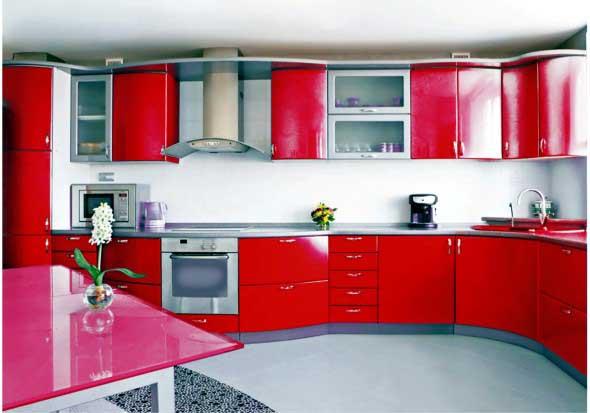 Colorido na decoração da cozinha 002