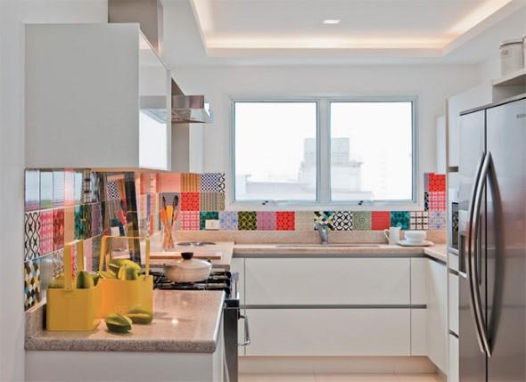 Colorido na decoração da cozinha 003