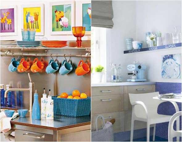 Colorido na decoração da cozinha 010