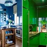 Colorido na decoração da cozinha 018