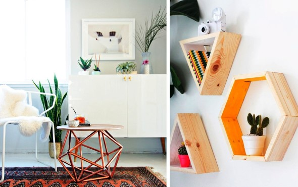 Decore sua casa com objetos geométricos 015
