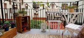 Madeira para realçar a decoração da varanda