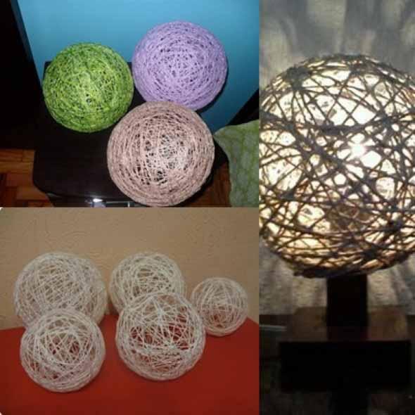 DIY - Como fazer uma luminária de barbante 002