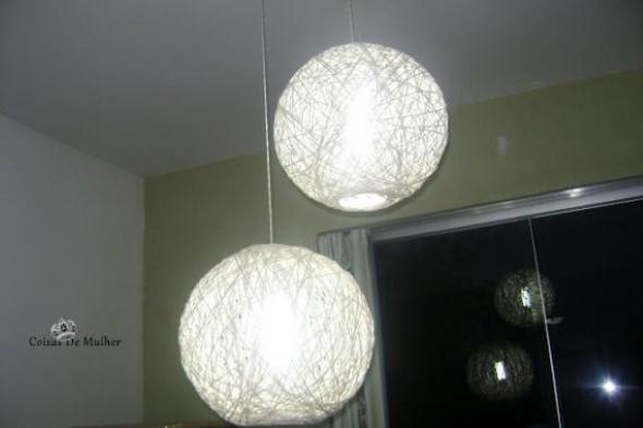 DIY - Como fazer uma luminária de barbante 008