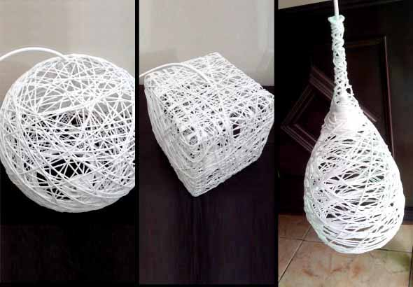 DIY - Como fazer uma luminária de barbante 012