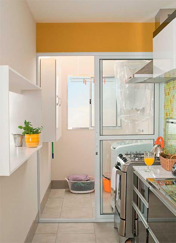 Lavanderia pequena e muito funcional 012