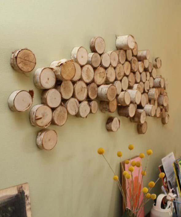 Troncos de árvore na decoração 011