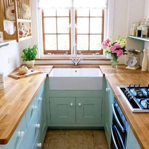 Usando madeira na decoração da cozinha 002