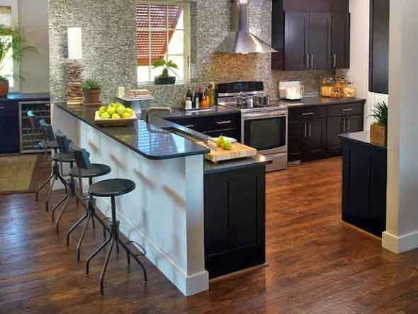 Usando madeira na decoração da cozinha 005