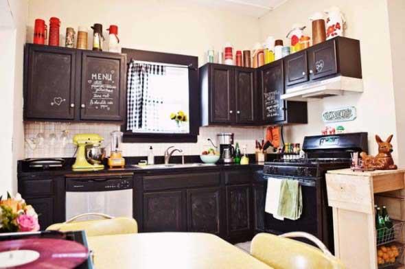 Usando madeira na decoração da cozinha 007