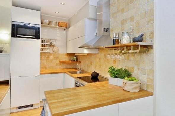 Usando madeira na decoração da cozinha 008