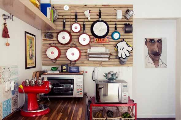 Usando madeira na decoração da cozinha 010