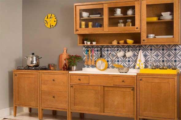 Usando madeira na decoração da cozinha 011