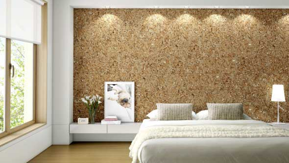 Como decorar paredes e pisos com cortiça 001