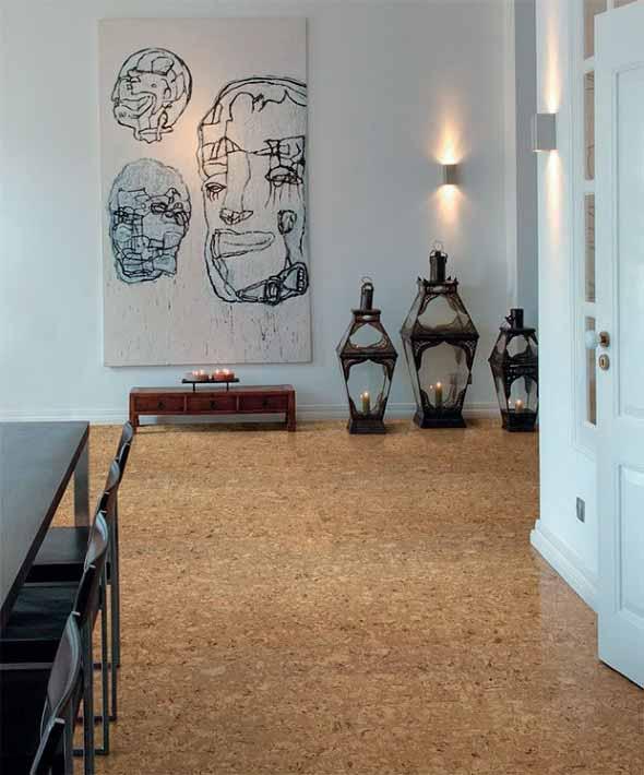 Como decorar paredes e pisos com cortiça 004