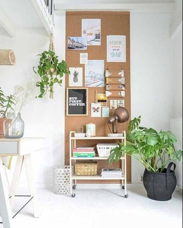 Como decorar paredes e pisos com cortiça 007