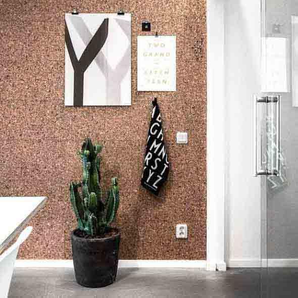 Como decorar paredes e pisos com cortiça 010
