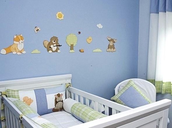 Decoração em EVA para o quarto do bebê 007