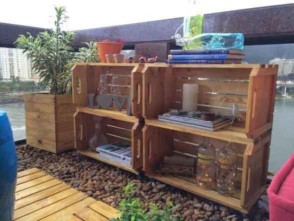 Decore a varanda com caixotes 003