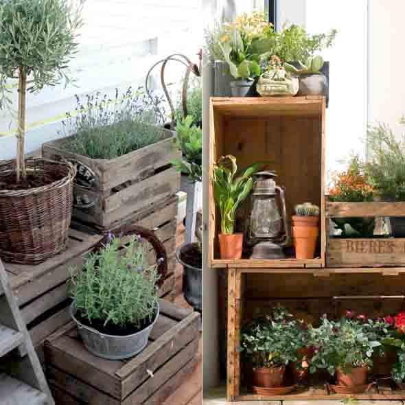 Decore a varanda com caixotes 011