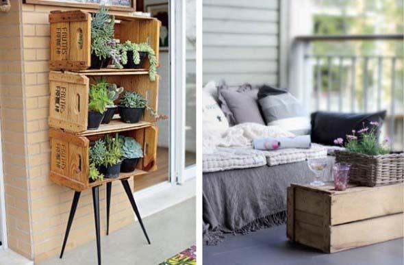Decore a varanda com caixotes 014