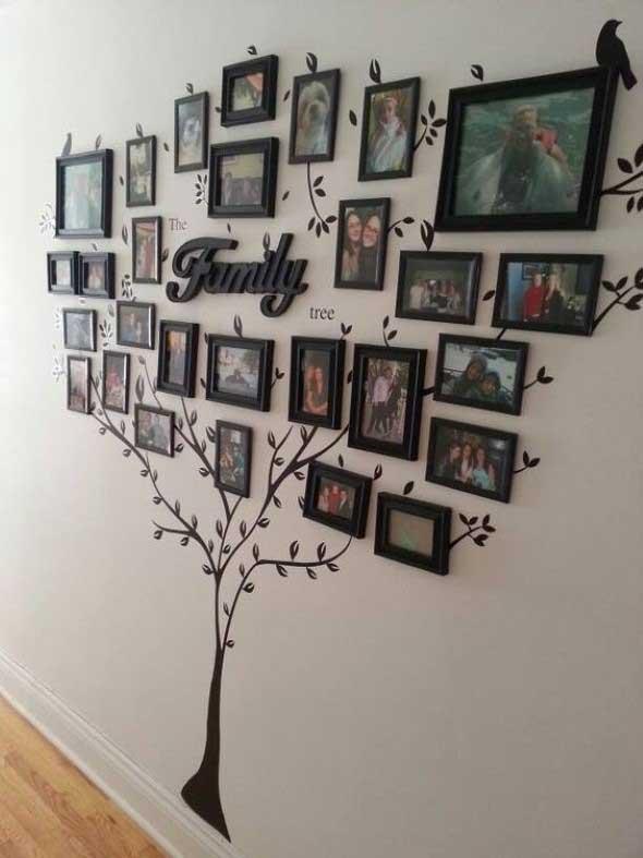 Quadros de forma criativa na decoração 001