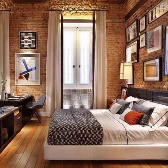 Quarto com piso de madeira 008