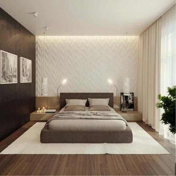 Quarto com piso de madeira 010