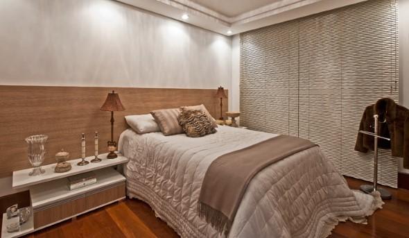 Quarto com piso de madeira 011