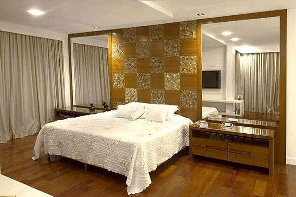 Quarto com piso de madeira 013