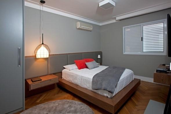 Quarto com piso de madeira 014