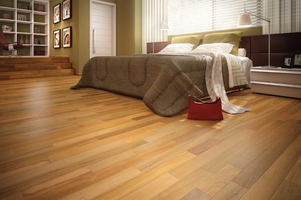 Quarto com piso de madeira 019