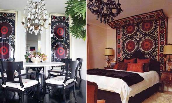 Como decorar a casa com tapetes nas paredes 001