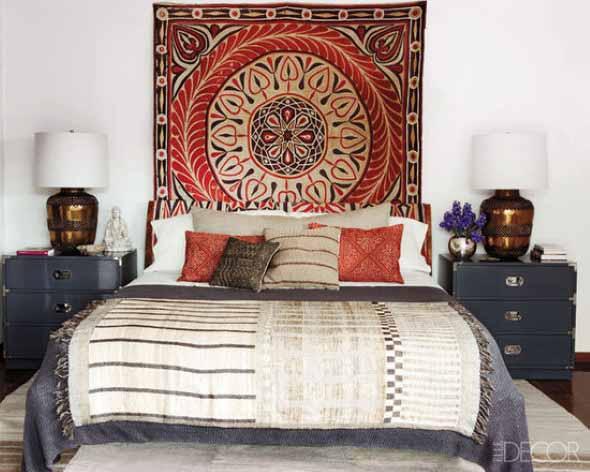 Como decorar a casa com tapetes nas paredes 003
