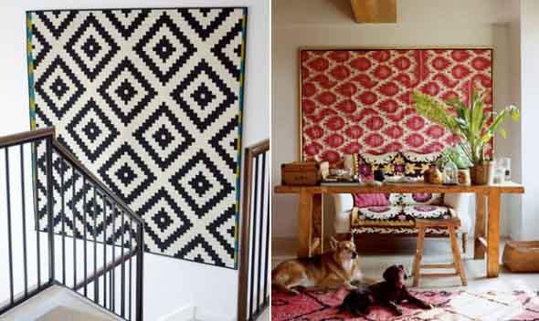 Como decorar a casa com tapetes nas paredes 004