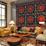 Como decorar a casa com tapetes nas paredes 005
