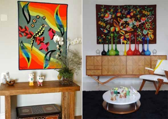 Como decorar a casa com tapetes nas paredes 008