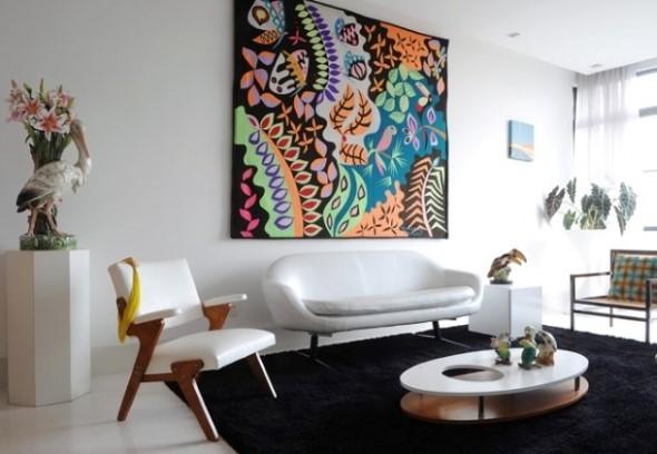 Como decorar a casa com tapetes nas paredes 011