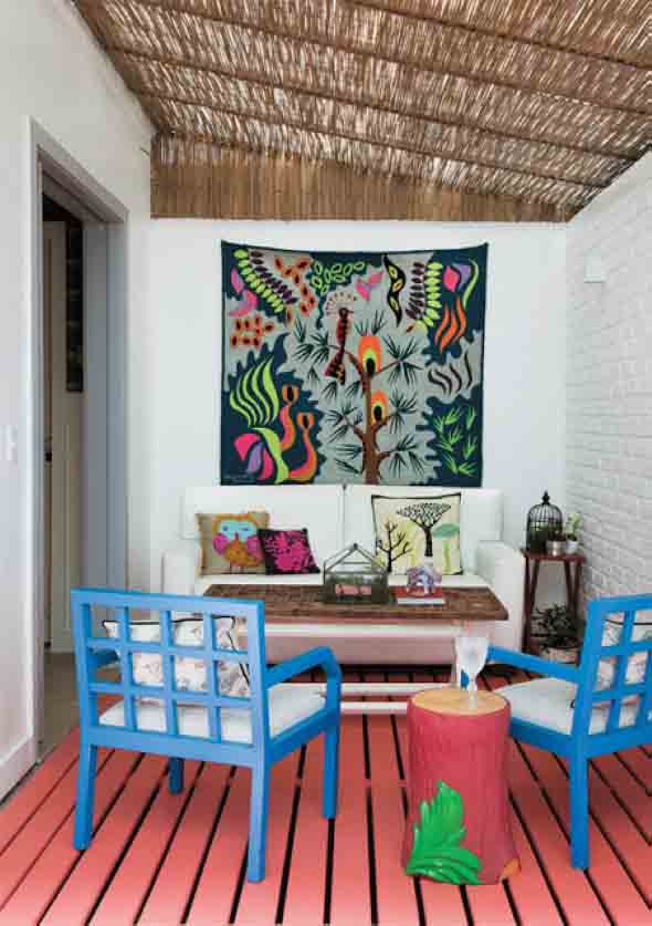 Como decorar a casa com tapetes nas paredes 013
