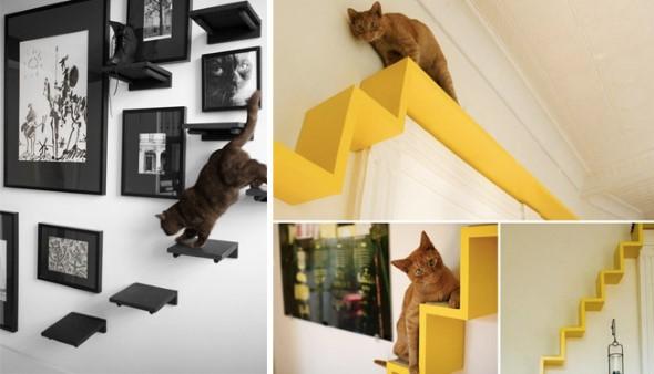Escadas para gatos nas paredes 007