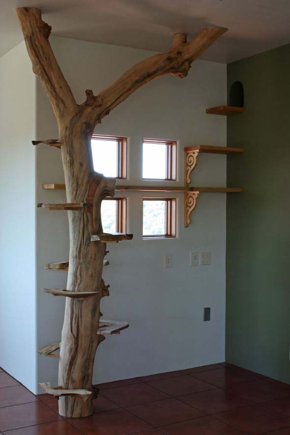 Escadas para gatos nas paredes 010