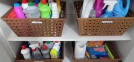 Cestos e caixas organizadoras pela casa