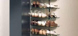 Prateleiras verticais para calçados – Mais espaço na decoração