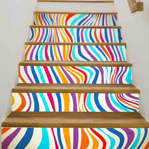Escadas coloridas 012