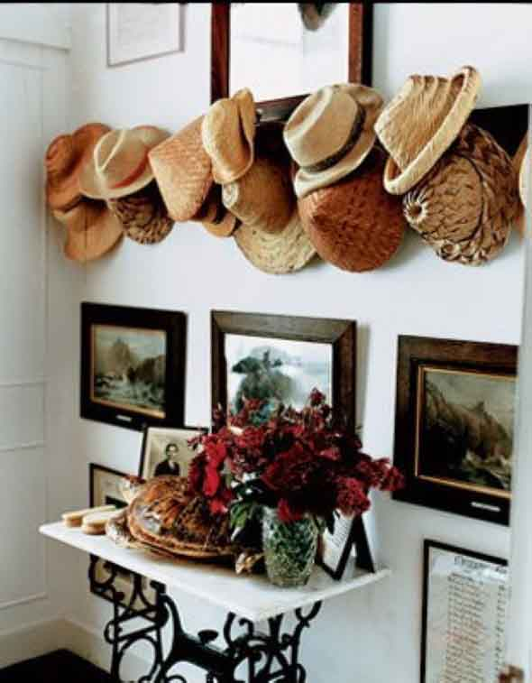 Ideias para usar chapéus na decoração 005